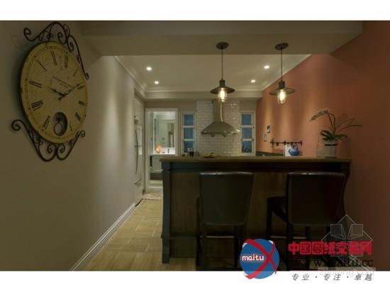 25坪美式风格摩登住宅设计-室内设计-中国图纸交易网