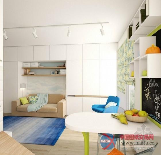 绝妙室内大改造 30㎡超级小户型装修设计图片