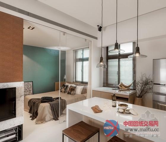 台湾时尚清爽小户型家居装修室内设计