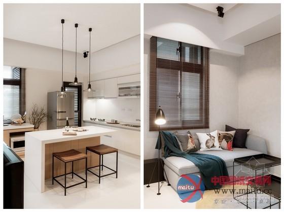 台湾时尚清新小户型家居装修室内设计图片