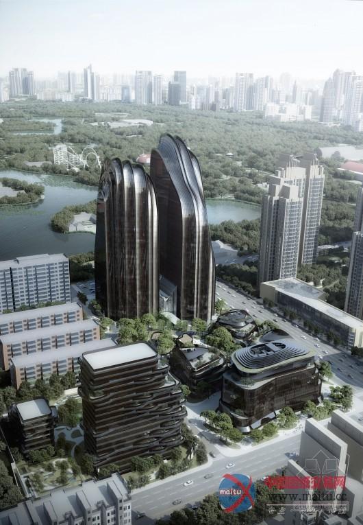 摘要:作为MAD山水城市建筑理念的重要实践,朝阳公园广场项目目前全面破土动工。建筑通过人工与自然景致的和谐营造,探索现代都市的人居理想。  马岩松 朝阳公园广场破土动工 重新定义北京城市景观 建筑设计:马岩松, 党群, 早野洋介 项目地点: 中国, 北京,朝阳区 基地面积:30,763平方米 建筑面积: 地上 128,177平方米, 地下 94,832平方米 图片来源:MAD 项目总建筑面积约为12万平方米,以办公、商业和住宅为主。位于北京CBD,毗邻朝阳公园,建筑与公园借景,建筑形态与公园内的