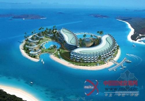 迪拜世界最大天空之城人建海岛约耗资30亿美元