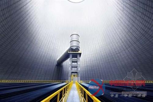 这是德国trianel火力发电厂冷却塔的内部景象