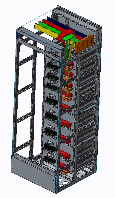 高低压配电柜开关柜结构图纸