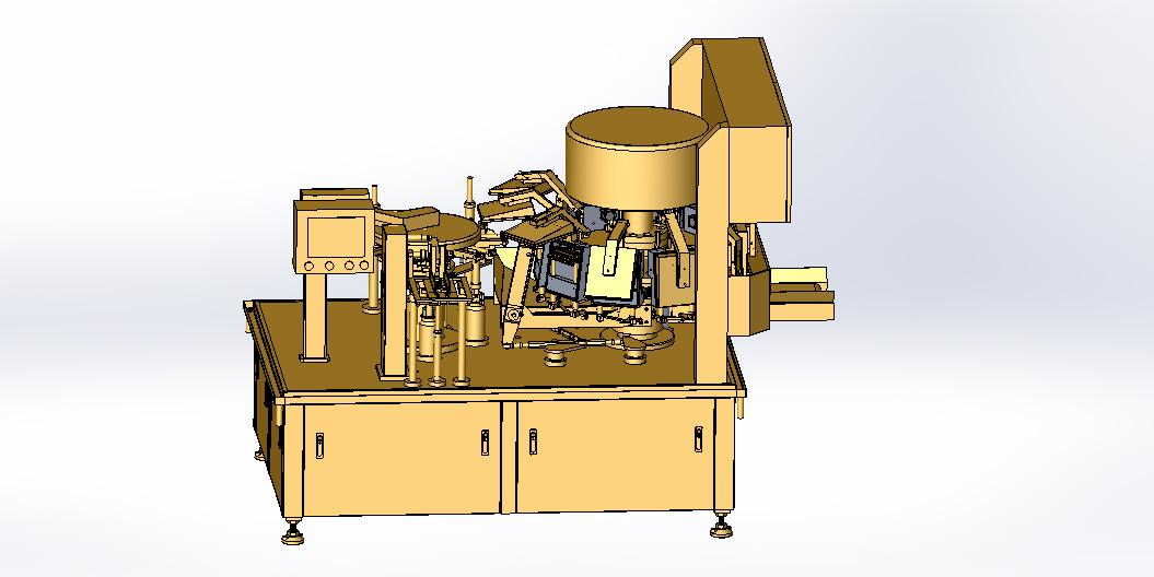 给袋式真空一体双转盘连续包装机图纸
