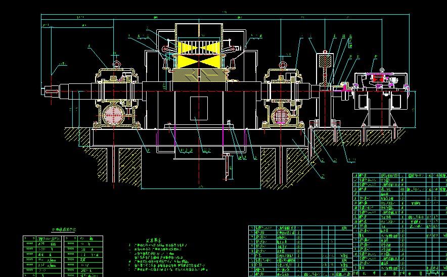 水轮机和发电机成套图纸