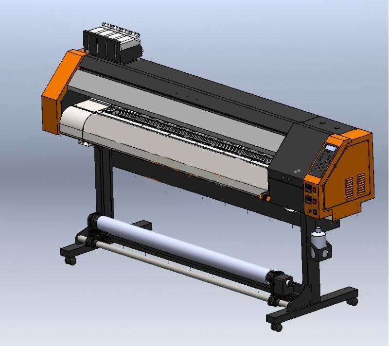 1600数码压电写真机完整模型+清单(可直接生产)