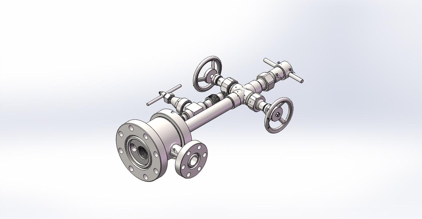 单转式环空测试井口