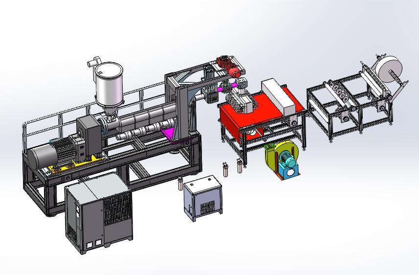 600熔喷布生产线熔喷机3D模型